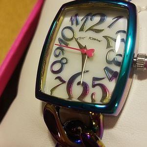 Betsey Johnson chain bracelet watch NEW in